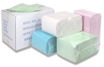 Dental towels div. kleuren 500 stuks voordeelverpakking