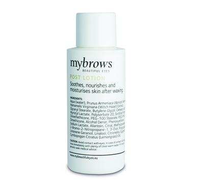 Mybrows post waxing lotion