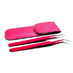 Pink tweezer set